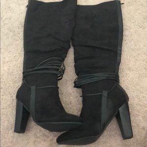 Never worn- knee high boots